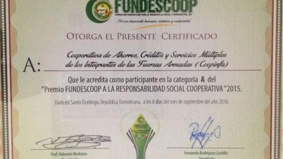 """COOPINFA participa en """"Premio FUNDESCOOP a la responsabilidad social cooperativa"""""""