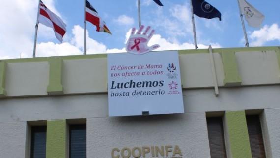 """""""Luchemos hasta detenerlo"""": COOPINFA se une a campaña en el mes de la lucha contra el cáncer de mama"""