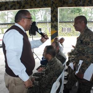 Directivos de COOPINFA, giraron una visita a la Brigada de Apoyo de Combate , en Villa Mella,08
