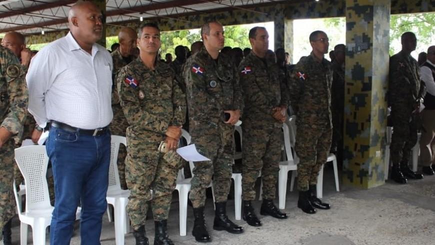 Directivos de COOPINFA, giraron una visita a la Brigada de Apoyo de Combate , en Villa Mella